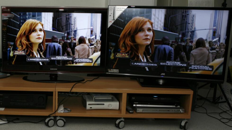 Samsung til venstre - JVC til høyre