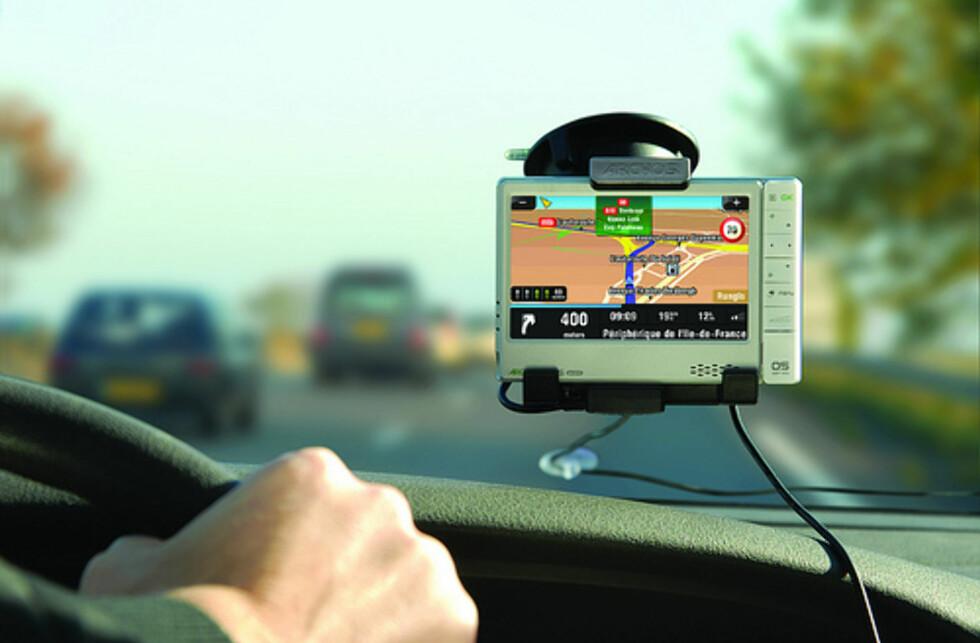 Archos 605 WiFi med GPS-holder