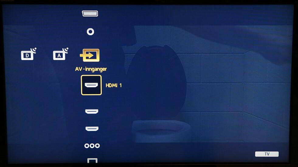 Meny-systemet i PS3-stil.