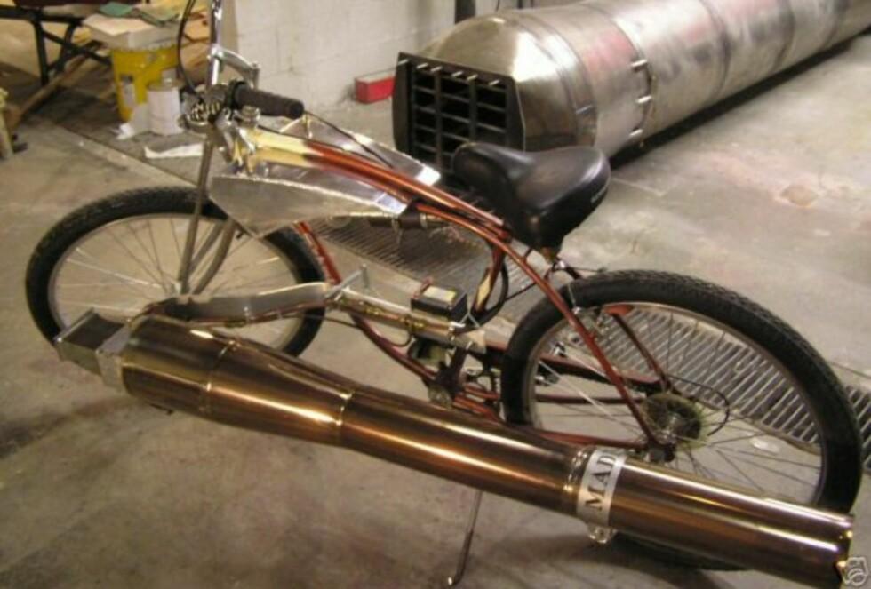 Denne sykkelen har jetmotor