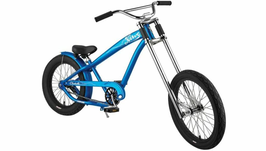"""Nirve Clutch Blue med 20"""" hjul, fås i sort og blått. Pris 2.900.-"""