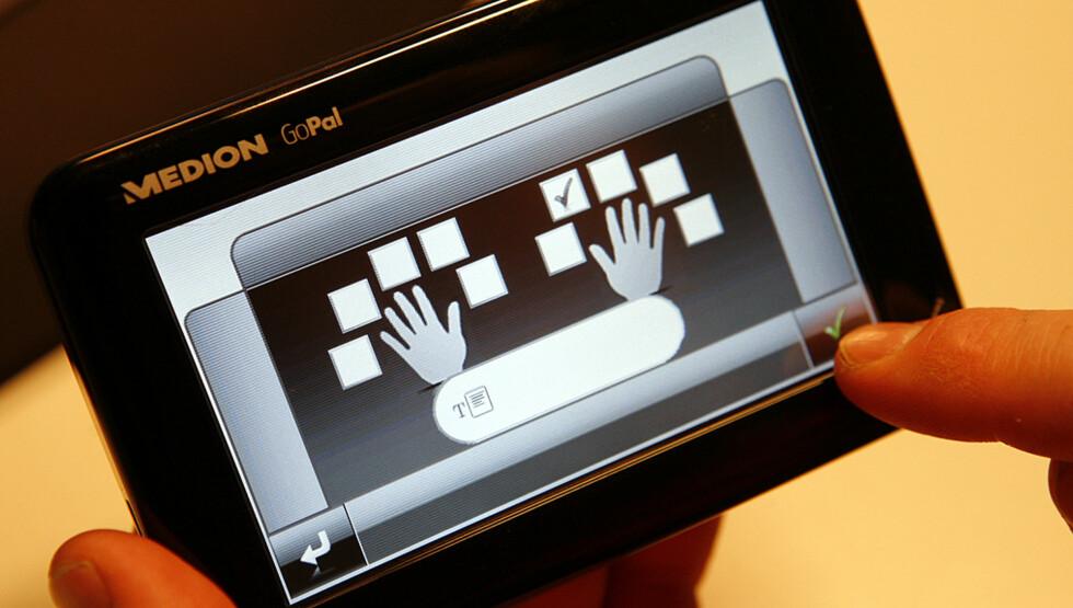 Fingeravtrykks-leser. En ren gimmick, med lite praktisk betydning
