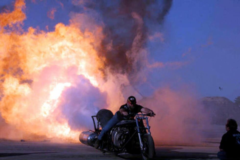 Flammekaster på to hjul