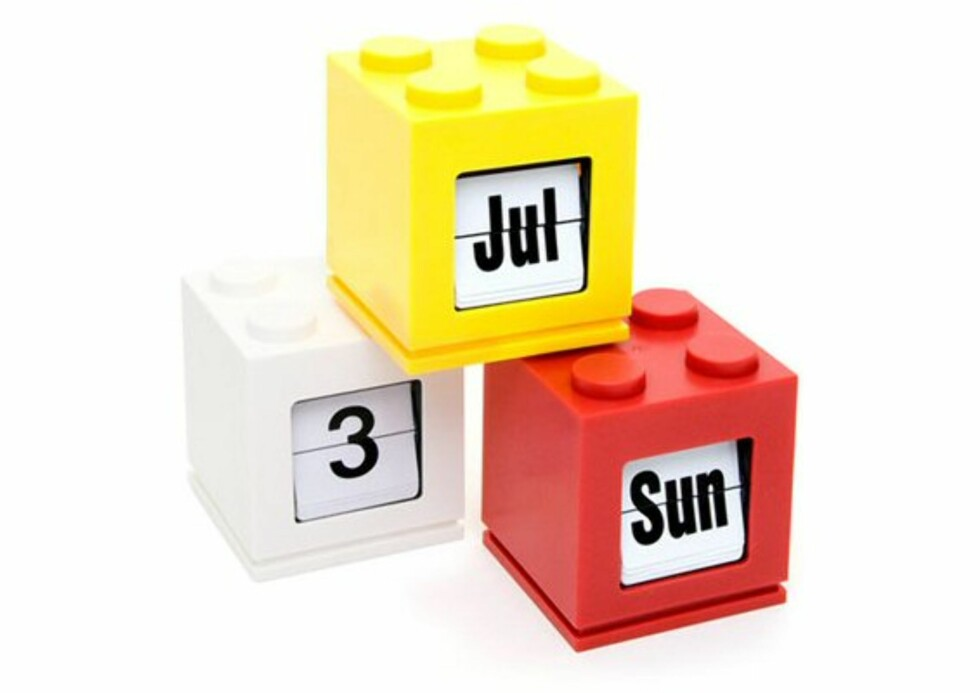 En kalender av lego