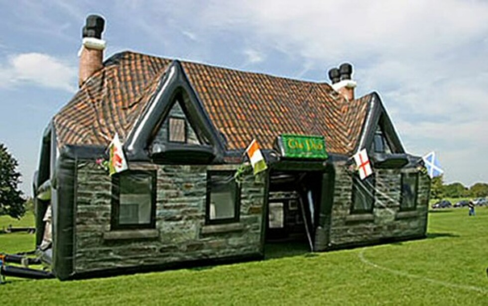 Inflatable pub er oppblåsbar