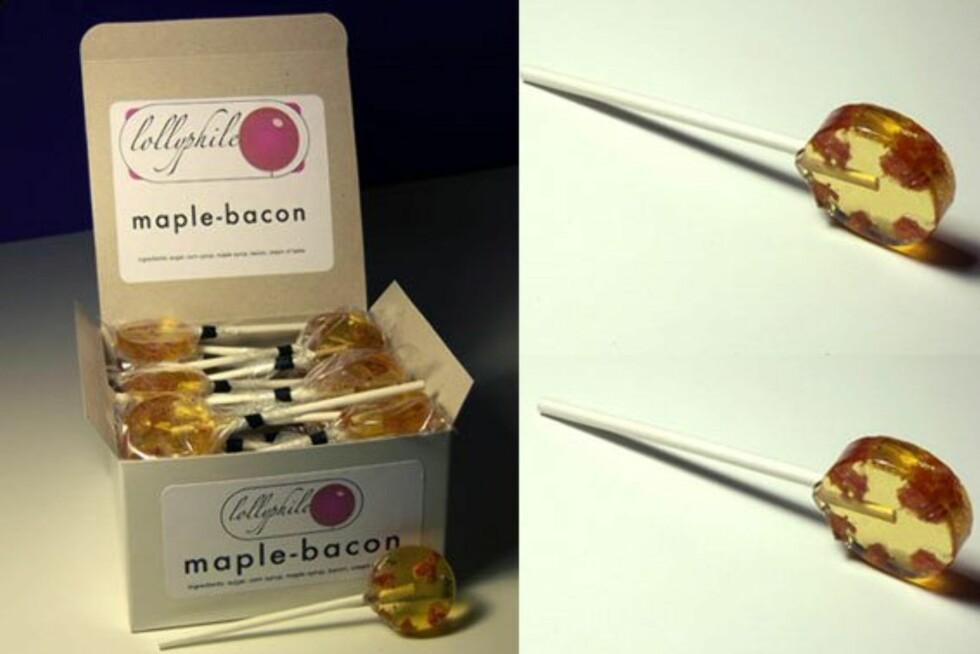 Maple-Bacon Lollipops