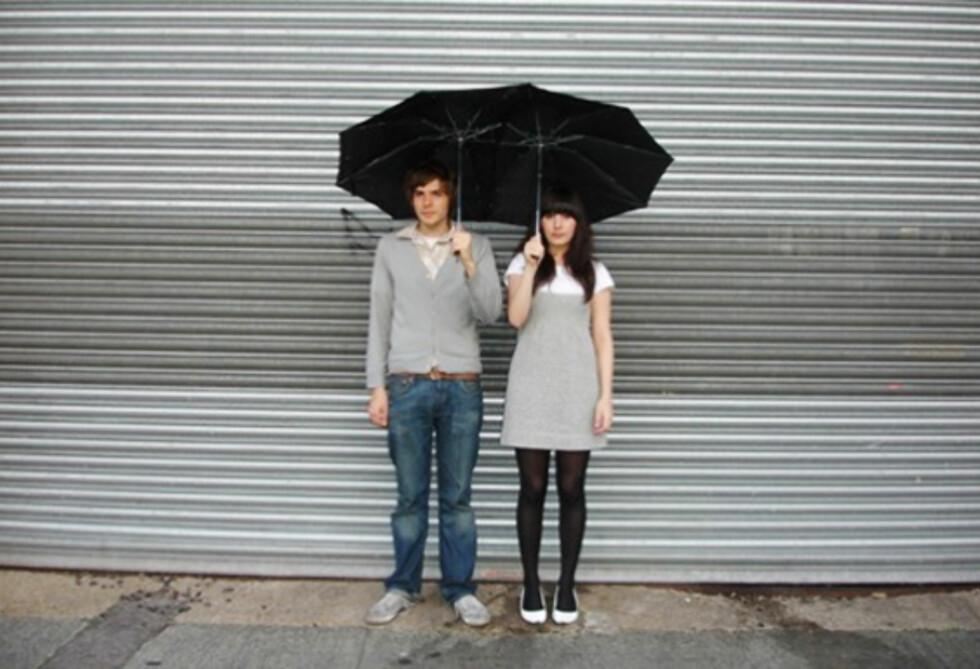 Tandem-paraplyen er så nusselig