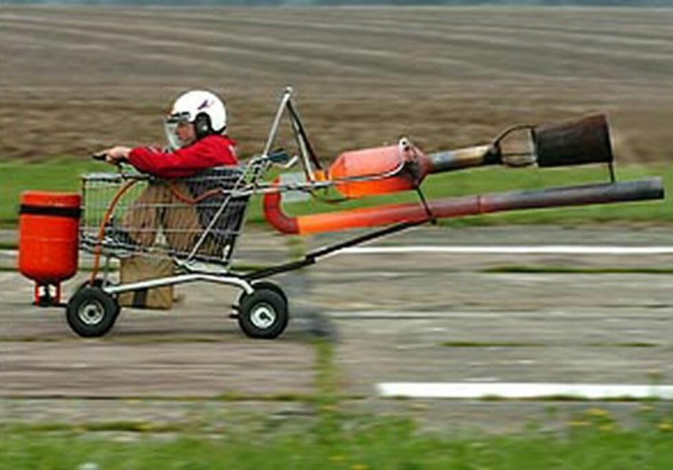 Handlevogn med jetmotor