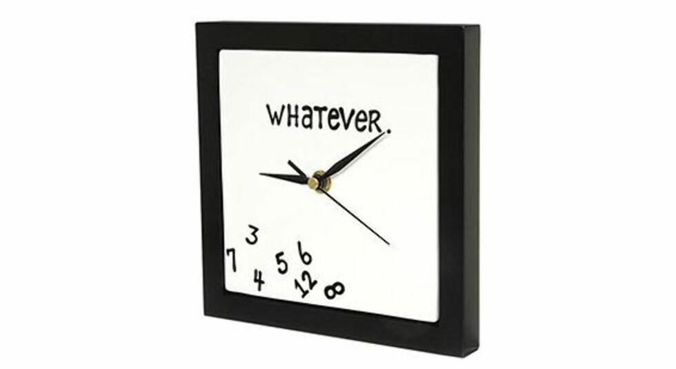 Klokka for deg som gir faen