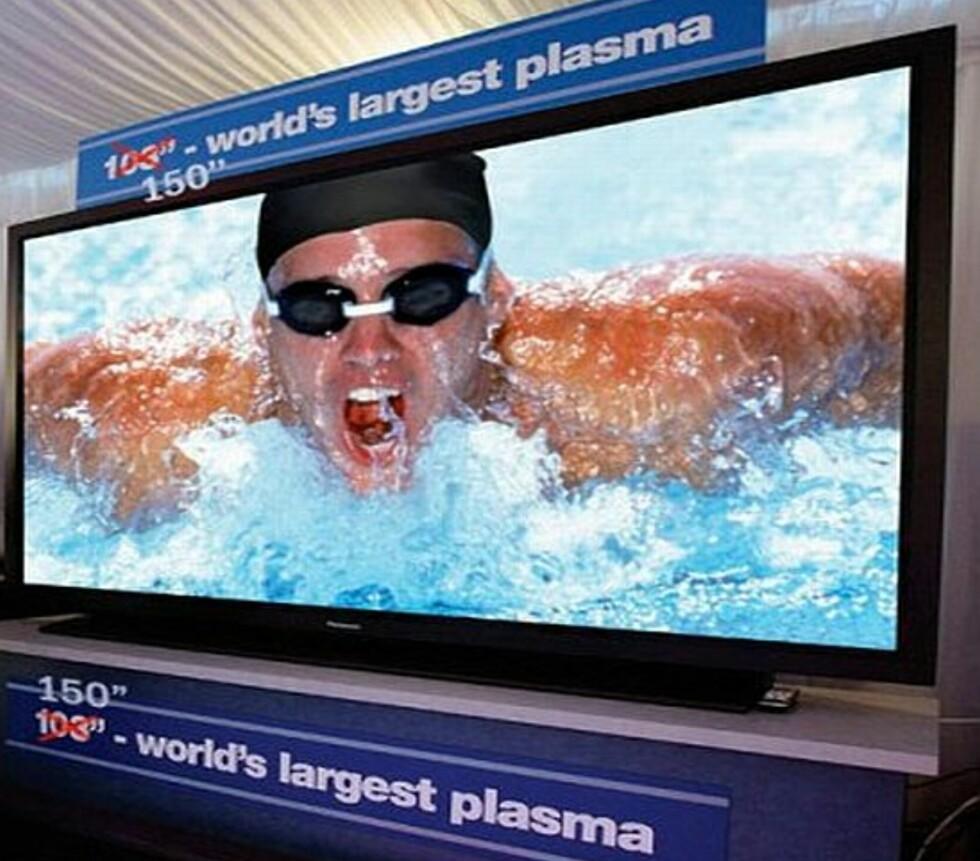 Verdens største plasma = 150-tommer