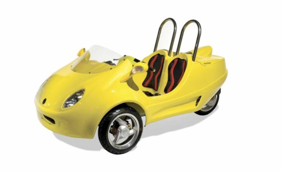Trehjuling for uatskillelige parhester
