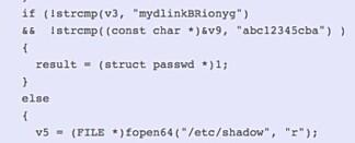 I koden er det hardkodet et brukernavn og passord som gir full tilgang – uavhengig av hva brukeren har valgt som brukernavn og passord.