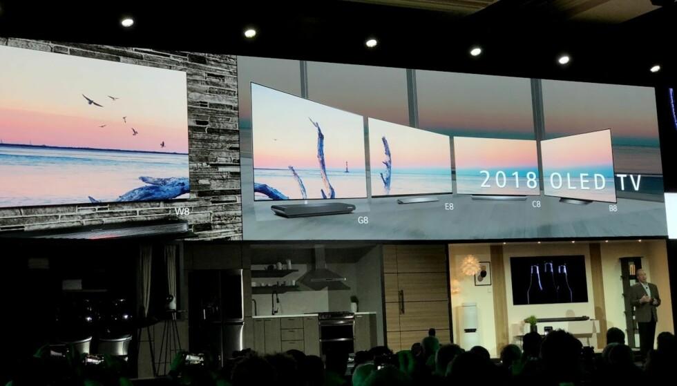 BEDRE OLED: Årets OLED-TV-kolleksjon fra LG har alle fått på plass AI og Google-stemmestyring. Foto: Bjørn Eirik Loftås