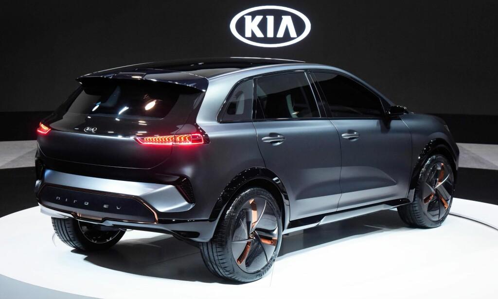 ELBIL - GENERASJON 2: Kia var raskt ute med en effektiv elbil med Soul EV, og gjør seg nå klar til å lansere oppfølgeren mot slutten av året. Den får rekkevidde som de beste i klassen. Den blir vist som konseptbil på CES-messen i Las Vegas. Foto: Kia