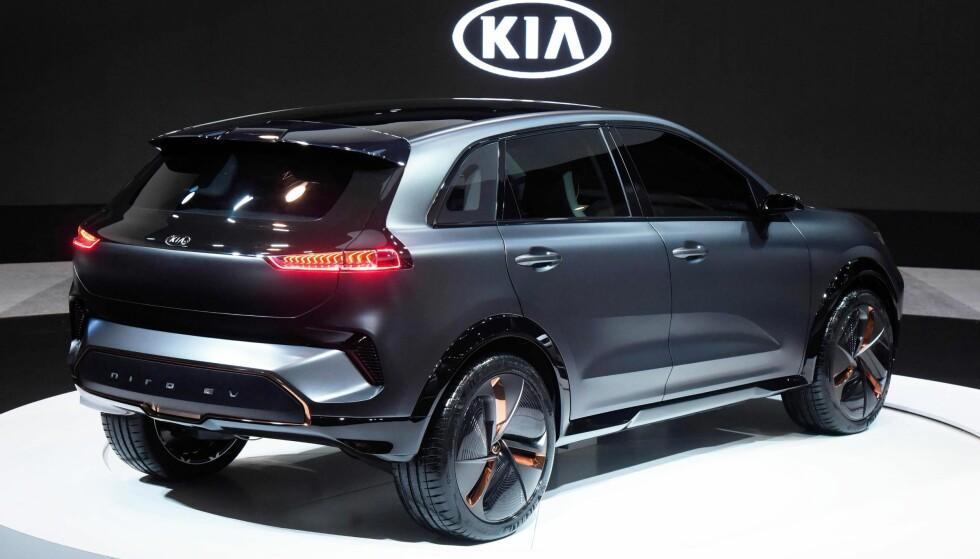 <strong>ELBIL - GENERASJON 2:</strong> Kia var raskt ute med en effektiv elbil med Soul EV, og gjør seg nå klar til å lansere oppfølgeren mot slutten av året. Den får rekkevidde som de beste i klassen. Den blir vist som konseptbil på CES-messen i Las Vegas. Foto: Kia