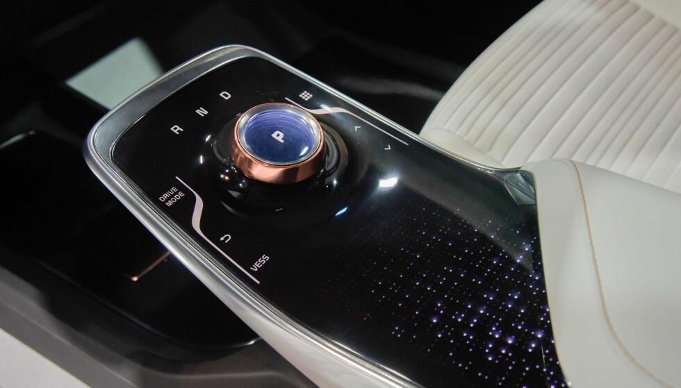 <strong>INNOVASJON:</strong> Berøring og gestuell interaksjon med bilens systemer vises av Kia som komponenter i fremtidig grensesnitt mellom bruker og bil. Foto: Kia