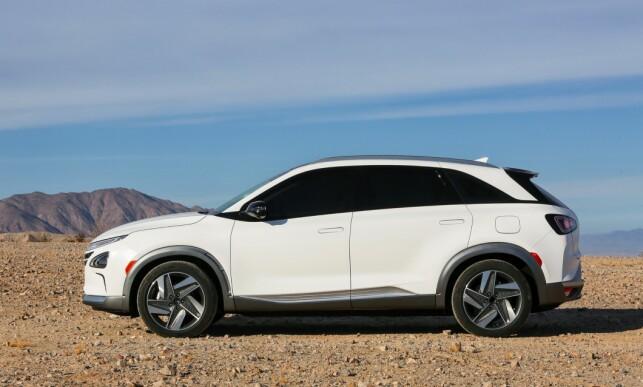 TIDSRIKTIG: Crossover-profilen fremstår som mindre høyreist på Nexo enn på forgjengeren ix35. Foto: Hyundai