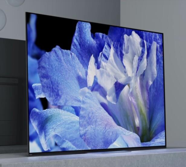 2018-FLAGGSKIP: Sonys nye OLED-TV har fått navnet A8F. Foto: Sony
