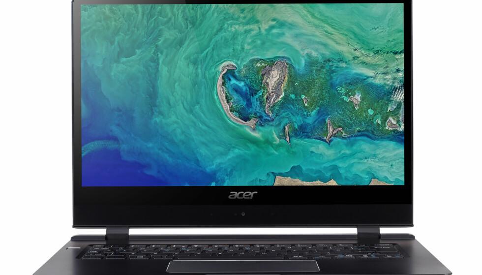 TYNNEST: Acer Swift 7 har kommet i en oppdatert og enda tynnere utgave. Foto: Acer