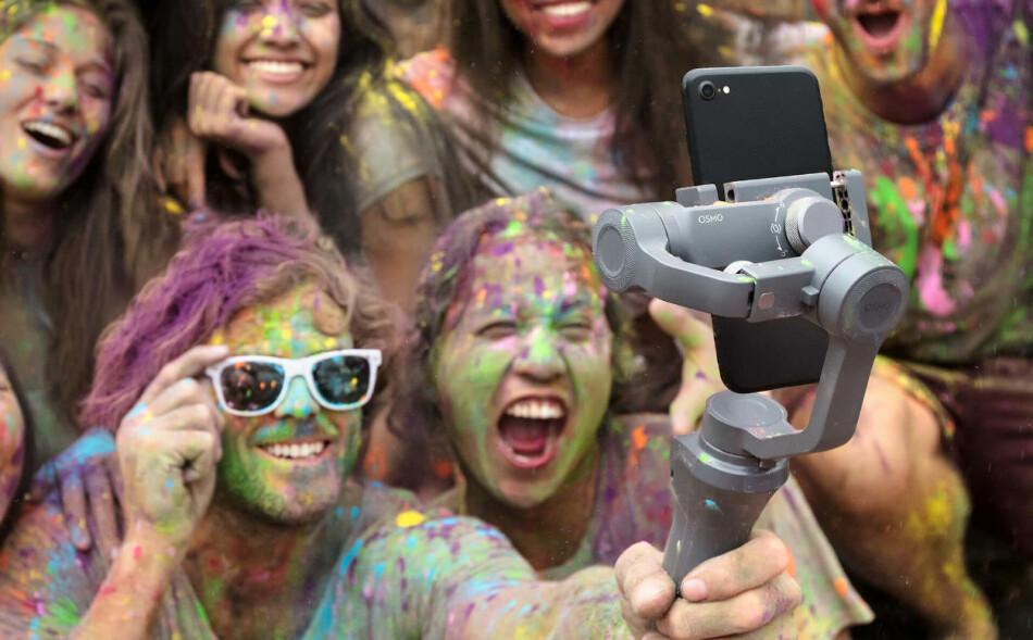 NY UTGAVE: DJI har lansert en ny utgave av sin mobilstabilisator Osmo Mobile, til en vesentlig lavere pris enn forgjengeren. Foto: DJI