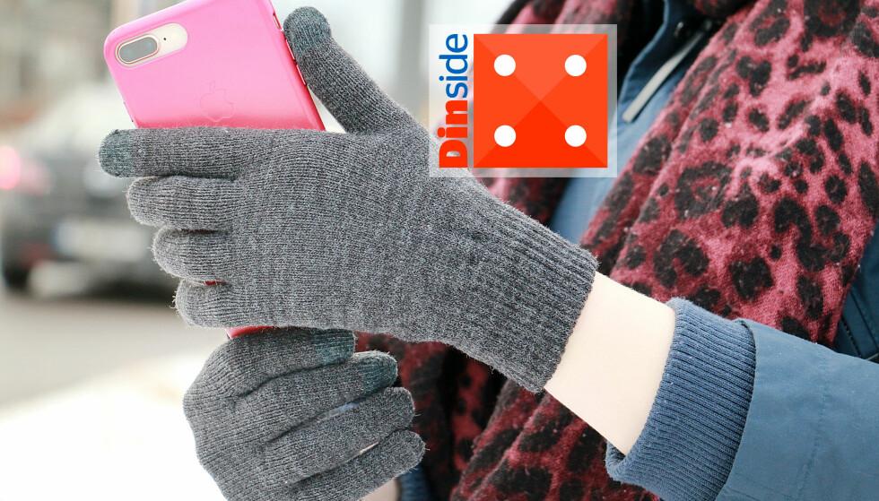 HENNES & MAURITZ: Enkle og greie mobilvanter. På bildet kan vi faktisk se hvilke fingre som har berøringsfunksjonalitet, selv om det ikke synes i virkeligheten. Foto: Ole Petter Baugerød Stokke