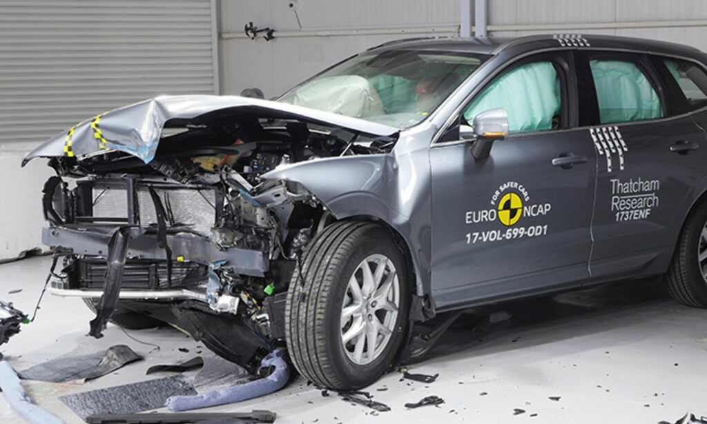 KRASJTESTET: Volvo XC60 er ifølge Euro NCAP én av de sikreste bilene på markedet. Foto: Euro NCAP
