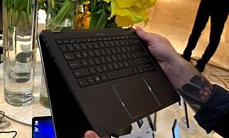 2-i-1: NovaGo kan gjøres om til et nettbrett med enkle håndgrep. Du skyver bare skjermen bakover og helt rundt, eller i diverse mellomposisjoner om du skulle ønske det. Foto: Bjørn Eirik Loftås