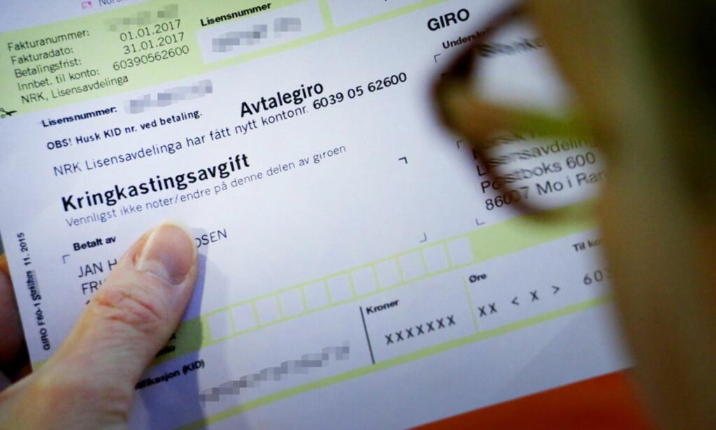 DYRT Å GLEMME NRK LISENSEN: Torsdag 31. januar forfaller betalingen på NRK-lisensen. Glemmer du å betale, må du betale en tilleggsavgift, og den er høy. Foto: Ole Petter Baugerød Stokke
