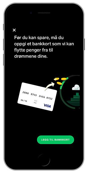 DAGENS VIRKELIGHET: Den ferske spareappen Dreams gjør sparing langt morsommere enn blant annet DNB Spare har klart, men er avhengig av både bankkort og en egen sparekonto hos Storebrand. Foto: Ole Petter Baugerød Stokke