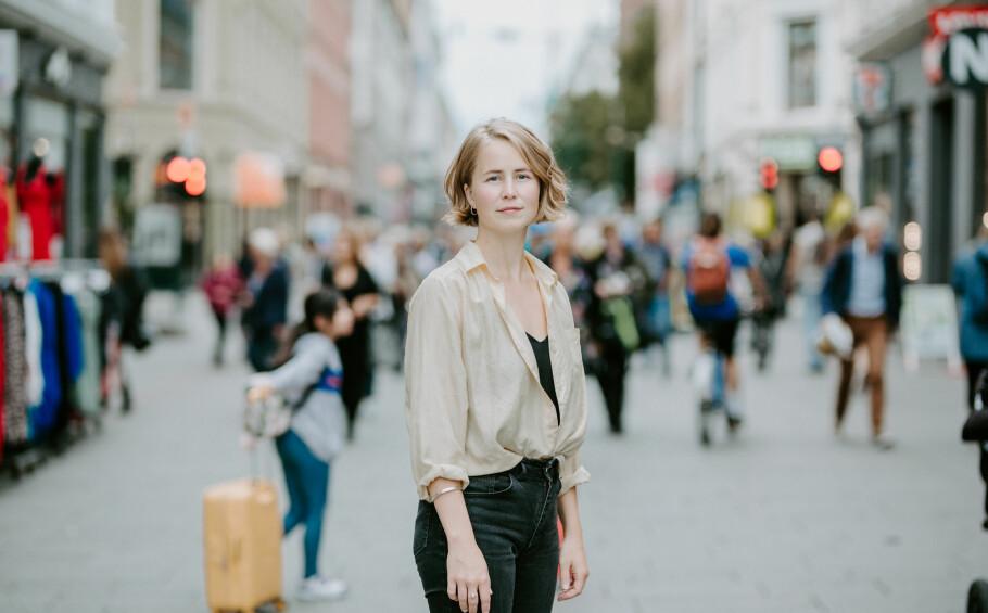 IKKE FORNØYD: Dersom de eksterne fondsforvalterne ikke etterlever bestemte krav til etikk og bærekraft, bør de heller ikke selge produktene sine gjennom norske bankers handelsplattformer, mener Anja Bakken Riise, leder i Framtiden i våre hender. Foto: Renate Madsen.