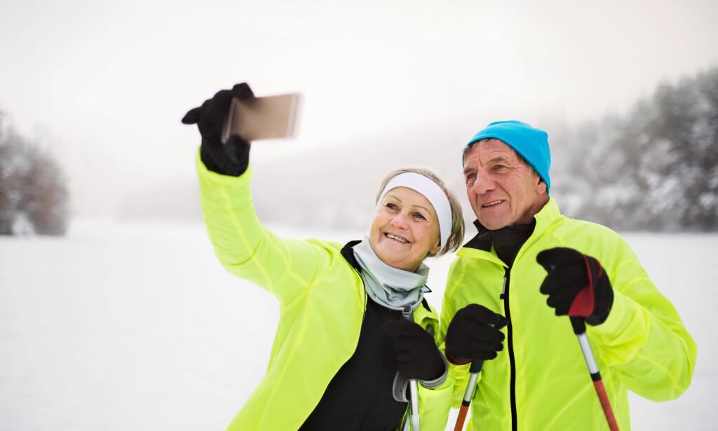 PAUSE? GÅ UT AV SPORET: Skal du drikke, ta en sjokoladebit eller forevige skituren så gå ut av løypa - og stopp på et oversiktlig sted. Foto: Shutterstock/NTB Scanpix