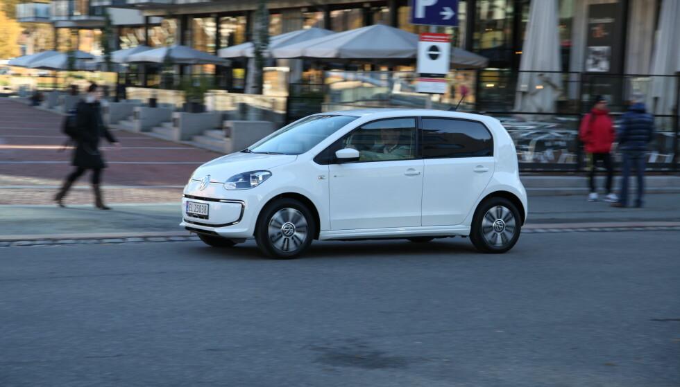 OPPTUR: Volkswagen Up var mest solgte modell blant minibilene i 2017 - mest takket være elbilversjonen e-Up. Foto: Knut Arne Marcussen