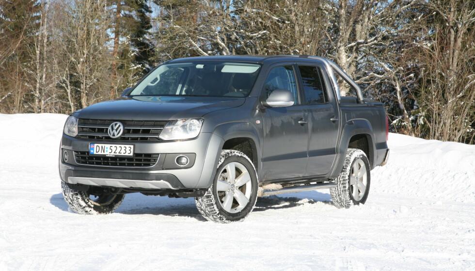 KOMMER SEG FRAM: VW Amerok ble mest solgte pickup på hvite skilter i fjor. Foto: Knut Arne Marcussen