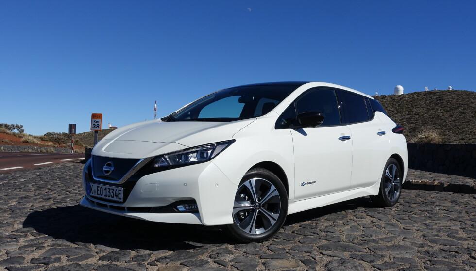 KLAR FOR VÅRE VEIER: Nye Nissan Leaf kommer snart til norske bilforretninger med normalisert design, forbedret rekkevidde og bedre ytelser enn forgjengeren. Nå kan vi for første gang fortelle om kjøreopplevelsen med den europeiske versjonen av den nye generasjonen av verdens mest solgte elbil. Foto: Knut Moberg