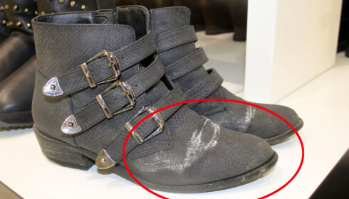 SALTRENDER: Kan disse skoene reddes? Foto: Tone Ruud Engen