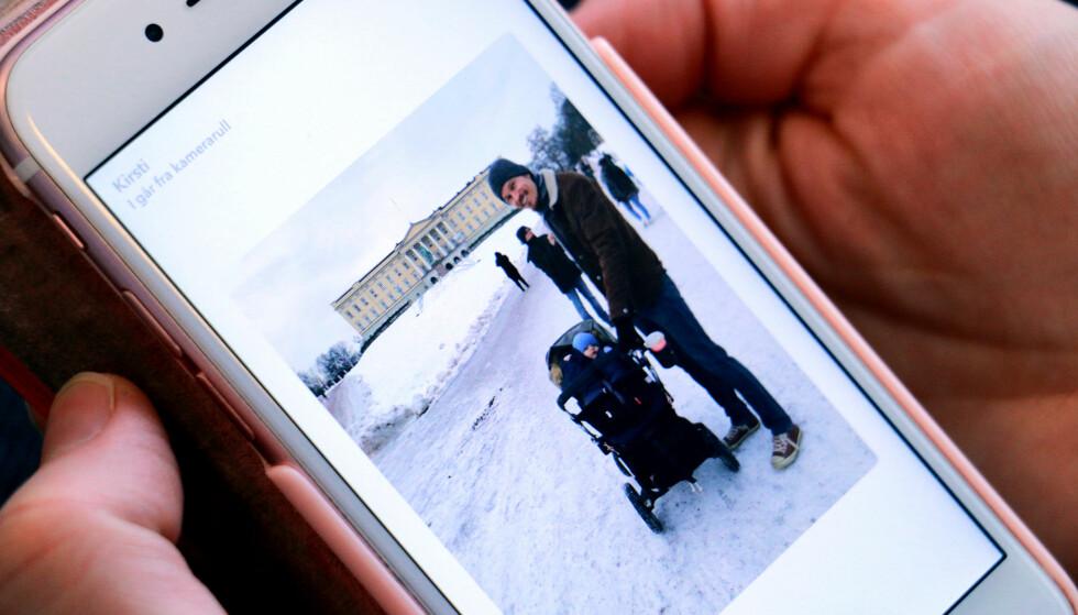 IKKE MER HVIT RAMME: Nå skal det ikke lenger se slik ut når du laster opp bilder fra kamerarullen. Foto: Kirsti Østvang