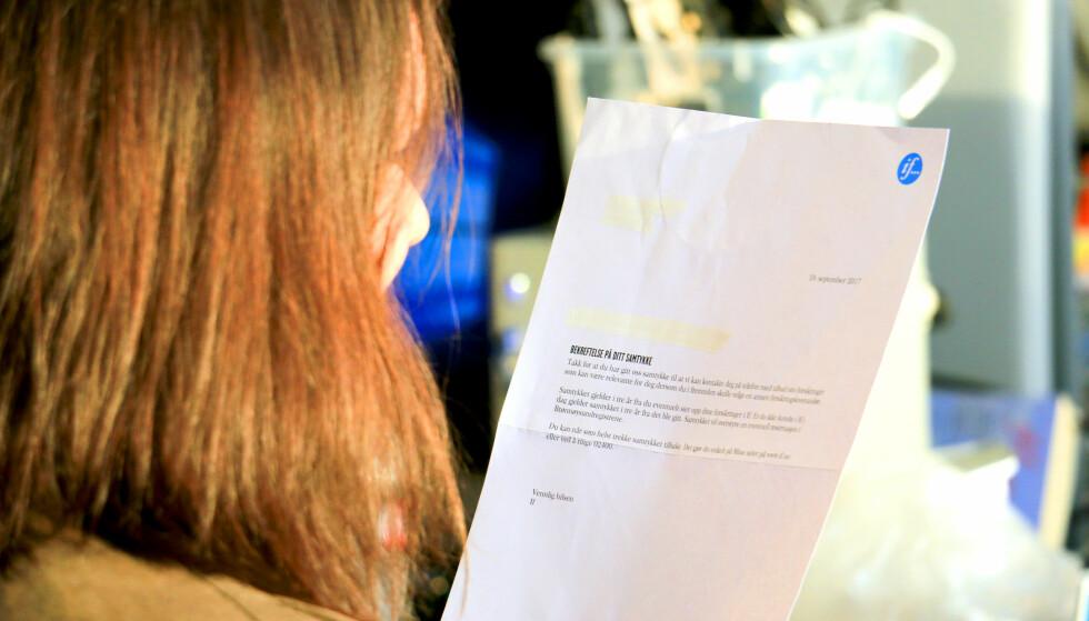 OVERRASKET: Det som skulle være en engangsoppringing ble utvidet til et samtykke om telefonsalg i tre år. Foto: Kristin Sørdal