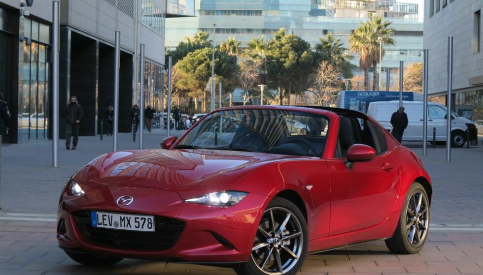 SPORTY JAPANER: Mazda MX-5 ble mest solgte sportsbil i Norge i fjor. Foto: Fred Magne Skillebæk