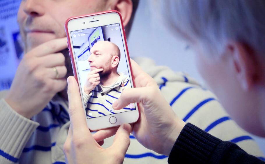 KJAPP BILDEDELING: Det er utrolig lettvint å ta og dele bilder med andre i Snapchat, men du bør ikke bruke appen til vanlig fotografering. Foto: Ole Petter Baugerød Stokke