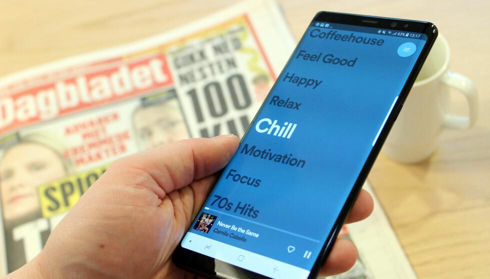 SÅ ENKELT SOM MULIG: Spotifys nye app, Stations, er nesten strippet for funksjonalitet. Foto: Pål Joakim Pollen