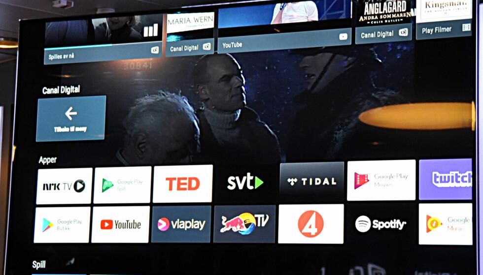 <strong>GOOGLE-INVASJON:</strong> Canal Digitals satellittkunder får nå Googles Android TV-system om bord. Men det krever en ny boks til ca. 1.500 kroner. Foto: Tore Neset