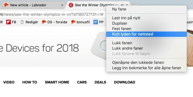 Nå kan du kutte lyden per nettsted i Chrome