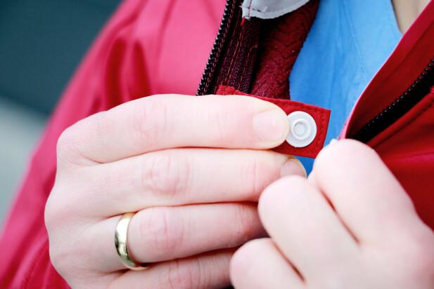 <strong>LUFTEKNAPP:</strong> Holder jakka på plass selv om du vil lufte. Foto: Ole Petter Baugerød Stokke