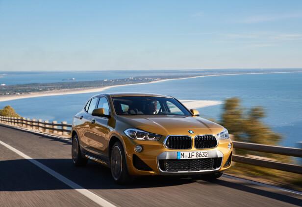 BEST PÅ VEI: Selv om vi selv valgte å fotografere X2 utenfor kjørebanen, er det ingen tvil om at det er på veien bilen trives best. Og i tilfellet testbilen - helst på en uten humper og ujevnheter. Foto: BMW