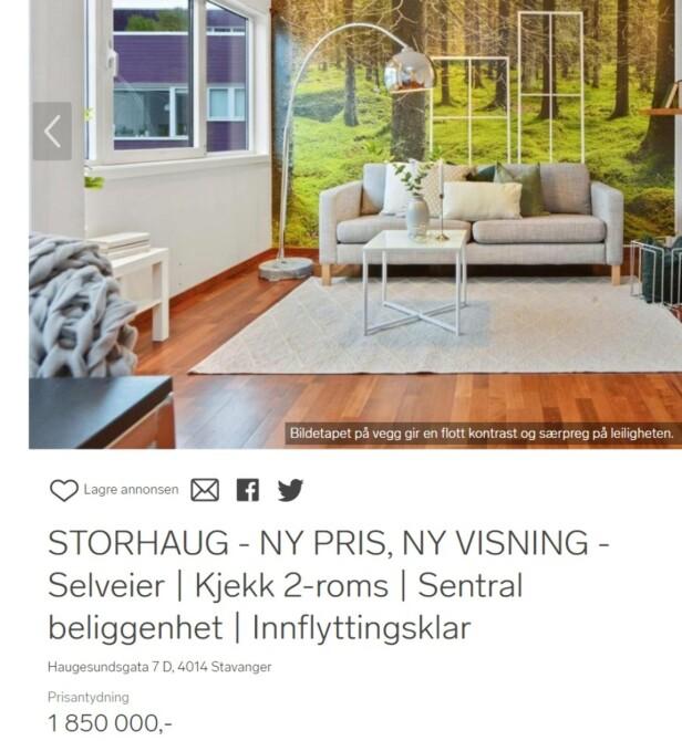 NYTT FORSØK: Tiden det tar å selge boliger øker i hele landet, men treigest går det i Stavanger. Flere av boligene på finn.no har ligget ute lenge, og noen annonserer med ny pris. Foto: skjermdump.