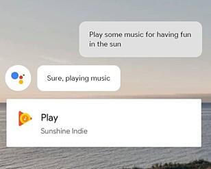 KNYTTER APPER SAMMEN: Netflix, YouTube, Google Music, Spotify og flere andre strømme-apper vil være kompatibel med den kunstige intelligensen i nye TV-er. Skjermdump: Google