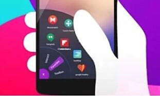 <strong>FRA HJØRNET:</strong> Android-appen Omni Swipe lar deg legge inn egne snarveier som er tilgjengelig fra ett av de nederste hjørnene. Foto: Holaverse Group