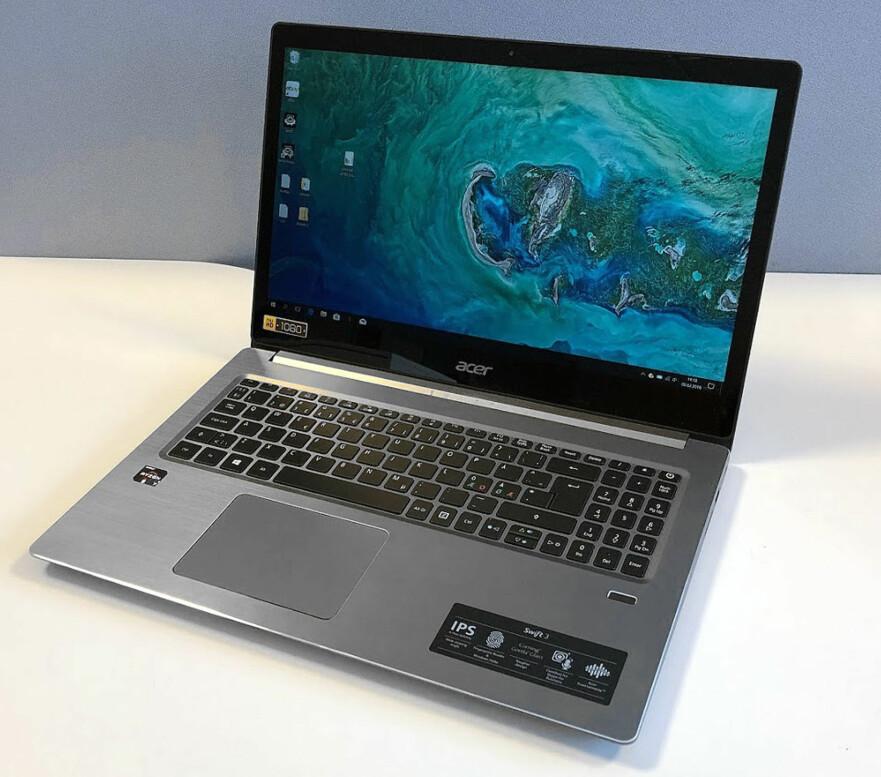 FIN PC: Acer Swift 3 med 15,6-tommer skjerm og AMD-innmat er slett ingen dum løsning, viser vår test. Foto: Bjørn Eirik Loftås