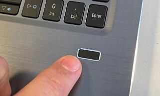 HELLO: Fingeravtrykkleser med støtte for Windows Hello er også på plass. Fotos: Bjørn Eirik Loftås