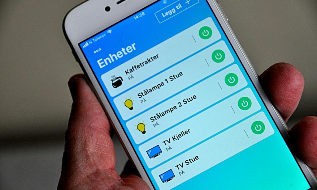 HVER ISÆR: CO Home-pluggene kan styres fra samme app, men samhandler ikke ut over det. Foto: Tore Neset